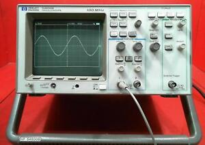 Hp Agilent Keysight 54600b Oscilloscope 2 Channel 100 Mhz S n 3409a03065