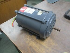 Ge Ac Motor 5kc47pg1211ex 1 3hp 1200rpm 115 230v 8 6 4 3a Fr 56 1ph Used