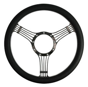 Southwest Speed 14 Steering Wheel Chrome Plated Billet W Black Wrap Banjo