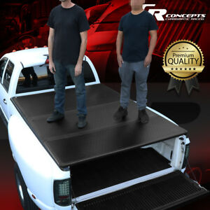 Hard Solid Tri Fold Tonneau Cover For 09 18 Ram 1500 2500 6 5ft Bed Pickup Truck