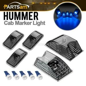 5 Smoke Roof Clearance Top Marker Lights Blue W5w 5730 Led For Hummer H2 03 09