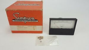Vintage Nos Simpson Model 553 Ac Volts 0 150 Panel Mount Meter