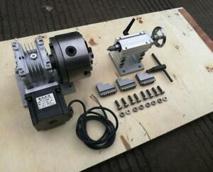 Cnc Router Rotary Axis A 4th axis 3 jaw 80mm Tailstock steel Frame 20 1