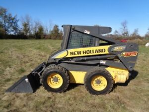 2007 New Holland L185 Skid Steer Cab heat air Pilot Ctrls 2 Spd 2 480 Hours