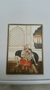 Indian Mughal Miniature Painting Handmade Rajput Artwork