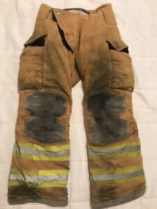 Lion Janesville Firefighter Turnout Pants Bunker Gear W Liner 32 X 30