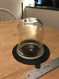 4 Diameter High Vacuum Thick Glass Bell Jar With Wide Ground Glass Seal