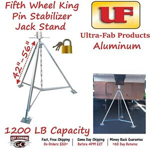 19 950200 Ultra Fab Aluminum 5th Wheel King Pin Stabilizer Jack Stand 1200lb Cap