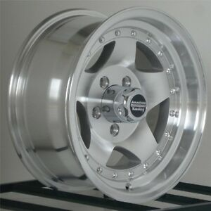 15 Inch Silver Wheels Rims Chevy Gmc Truck 1 2 Ton 5 Lug 5x5 Are Ar23 15x7 New