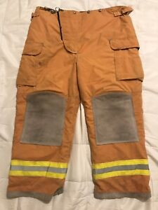 Lion Body Guard Firefighter Turnout Pants Bunker Gear W Liner 46 X 30