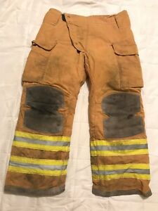 Lion Janesville Firefighter Turnout Pants Bunker Gear W Liner 38 X 30