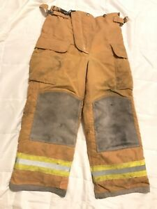 Lion Body Guard Firefighter Turnout Pants Bunker Gear W Liner 32 X 28