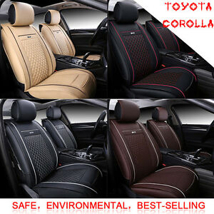 Auto Car Seat Cover Cushion Mat Pu Leather All Weather Pad Zb For Toyota Corolla