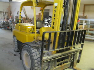 Hyster H80 8000lbs Gas Forklift Pneumatic Tires 72 Forks Dual Wheel Heavy Duty