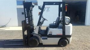 Nissan Cpj02a20pv 4000lbs Lpg Propane Forklift 82 Max Height Short Mast