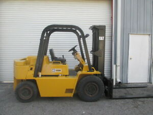 Caterpillar V90e Diesel 9000lbs Forklift W Side Shift 188 Height 72 Forks