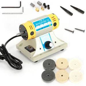 320w Bench Lathe Machine Electric Grinder Polisher Driller Metal Polishing Kit