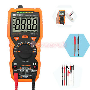 New 6000 Counts Lcd Digital Multimeter Ac dc Auto Range Non contact Voltage Test