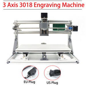 3 Axis 3018 Mini Grbl Control Cnc Router Laser Engraver Milling Carving Machine