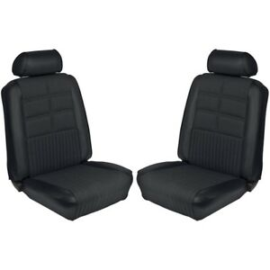 1969 Ford Mustang Deluxe Black Front Bucket Seat Covers Only 068593 L 3722 New
