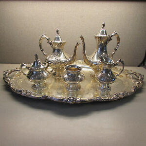 Reed Barton King Francis 6pc Tea Coffee Set