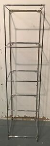 5 Tier Chrome Tubes Shirt Display Shelving Cube Unit Rack Retail Store Fixture