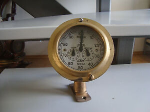 Russian Marine Brass Log Original
