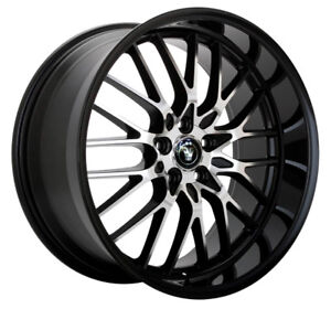4 New 16 Inch Konig 16mb Lace 16x7 5x110 5x115 40mm Black Machined Wheels Rims