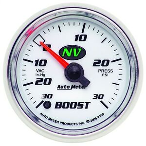 Autometer 7359 Nv Electric Boost vacuum Gauge