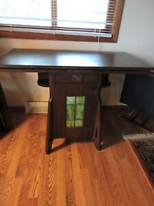 Antique Arts And Crafts Mission The Lakeside Craft Shop Combination Game Table