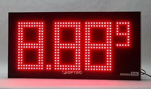 Optec Displays Outdoor Digit Series Led Price Changer Billboard Board 12 Gpc 12
