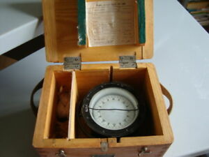 Russian Marine 75 Mm Brass Compass Original
