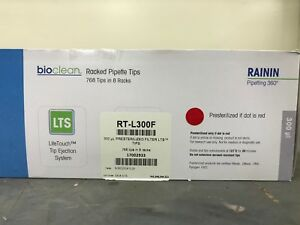 Rainin 300 l Presterilized Sterile Racked Lts Pipette Tips Rt l300f