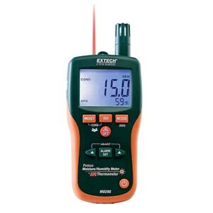 Extech 8 In 1 Pinless Moisture Humidity Meter M0290 Built In Ir Thermometer New