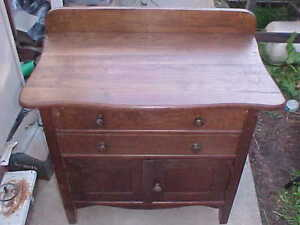 Antique Oak Washstand Commode Small Dresser Fine Condition Pickup Only