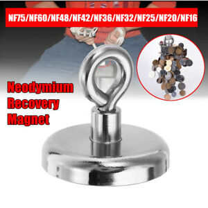 Nf16mm nf75mm Magnetic Neodymium Recovery Magnet Metal Detector Claw Hook Strong