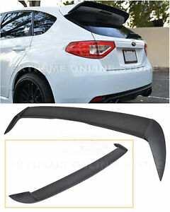 For 08 14 Subaru Wrx Sti Abs Rear Roof Add On Spoiler Lip Wing Extension Kit