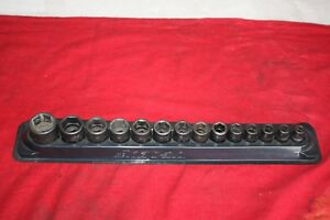 Snap On Tools Impact Shallow Socket Set 3 8 Drive 6 Point Metric 14 Pc
