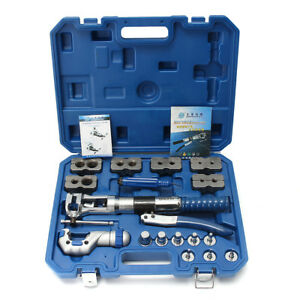Universal Hydraulic Flaring Tool Set Kit Brake Pipe Fuel Line Expander Cutter