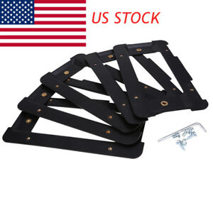 For Bmw Audi Rear License Plate Mount Frame Tag Holder Bumper Bracket 5pcs set