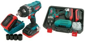 Heavy Duty 20v 1 2 Lithium Li Ion Cordless Impact Wrench 2 Batteries In Case