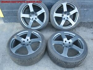 Porsche Cayenne 5x130 Rinspeed 22 Inch 22x10 Rims Wheels Tires Set Gray