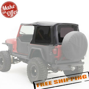 Smittybilt Replacement Soft Top W Tinted Windows For 1987 1995 Jeep Wrangler Yj