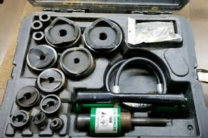 Greenlee 7310sb 4 Hydraulic Slugbuster W case 767 Pump 746 Ram used