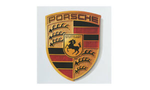 Porsche Crest Sticker Colored Crest Black Red Gold Porsche Design Selection