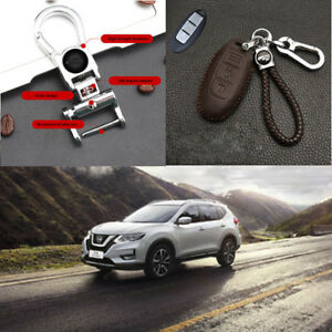 Car Remote Control Key Case Brown Winding 360 Rotating Key Chain For Nissan