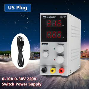 30v 10a 220v Lab Adjustable Lcd Dual Digital Display Dc Power Supply Switching