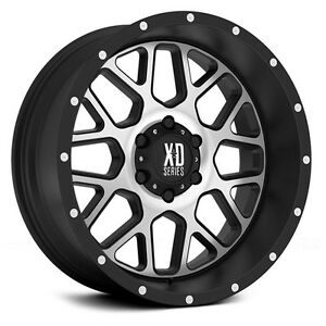 22 Inch Black Silver Wheels Rims Lifted Chevy Silverado 2500 3500 Truck 8 Lug 4