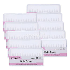 Dental Clinic White Polishing Stones Flame Fl2 Fg Burs Arkansas Stone