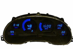 1994 2004 Ford Mustang Digital Dash Panel Blue Led Gauges Lifetime Warranty
